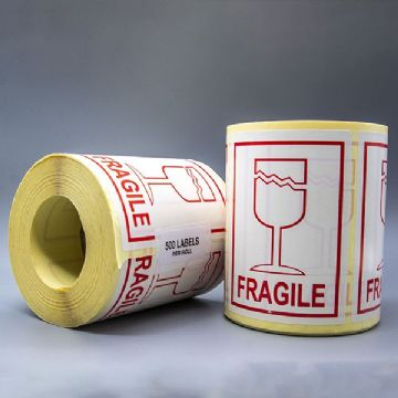 Fragile Glass Label (500)